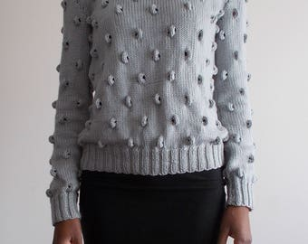 Loop-all-over sweater