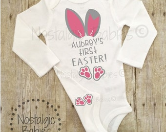 My First Easter, It's My First Easter, First Easter Girl outfit, Easter bunny shirt, Easter outfit, Bunny shirt, bunny, 1st Easter,bunny