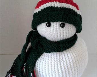 Mr. Christmas Hand Knitted Snowman-Large