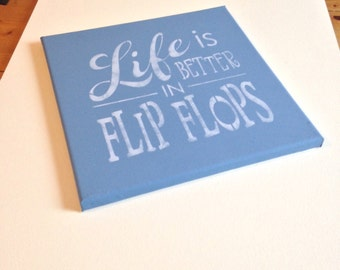 "Flip flops 12""x12"" wall canvas"