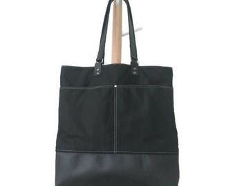 Gift for her Gift for women Tote bag Leather bag Laptop bag  Canvas  Mothers day gift Shoulder Bag Birthday gift Gift for mom Waxed canvas