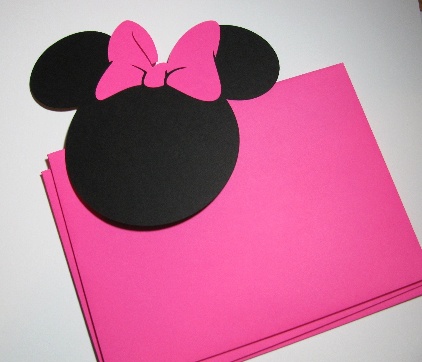DIY Invitation Kit 25 pack 5 Minnie Mouse ears with a