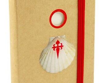 Camino de Santiago Pilgrim Scallop Shell Notebook Diary