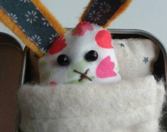 Easter Bedhead Bunny. Tinny Tinies with bed and adoption certificate.