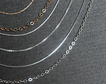 925 Sterling silver chain. Silver necklace chain. Solid silver. 16, 18, 20 Inch sterling silver chain. Layered necklace, dainty necklace.