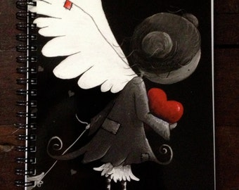 Moonseed angel spiral bound notebook