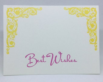 Best Wishes Letterpress Card