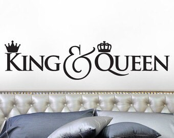 King and Queen Wall Decal