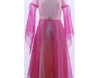 Pink fairy costume satin 10 years - Picanoc