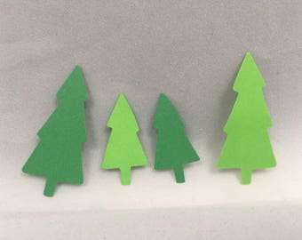 Pine tree Christmas tree diecut table scatter confetti Christmas confetti Christmas die cut