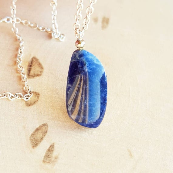 crystal gemstone point necklace amazon lucky sodalite dp in pendant com
