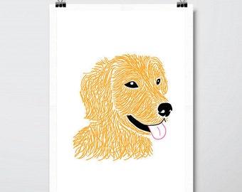 Retriever Dog Print