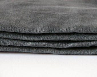 Hand Waxed Cotton Canvas Fabric - Graphite Grey 10oz.