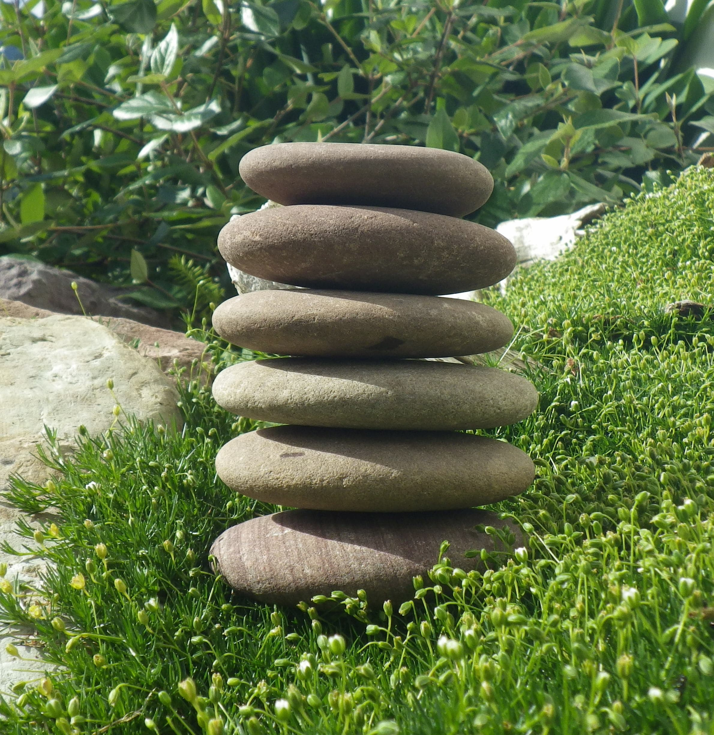 6 Natural Flat Stones, Stack Of Stone, Stacking Stones, Zen Garden ...