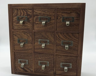 Solid Wood Apothecary Cabinet, Essential Oil Cabinet, Small Goods Storage,  Custom, Rowan And Wych