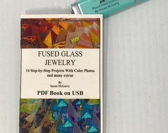 Fused Glass Jewelry Book on USB Flash Drive