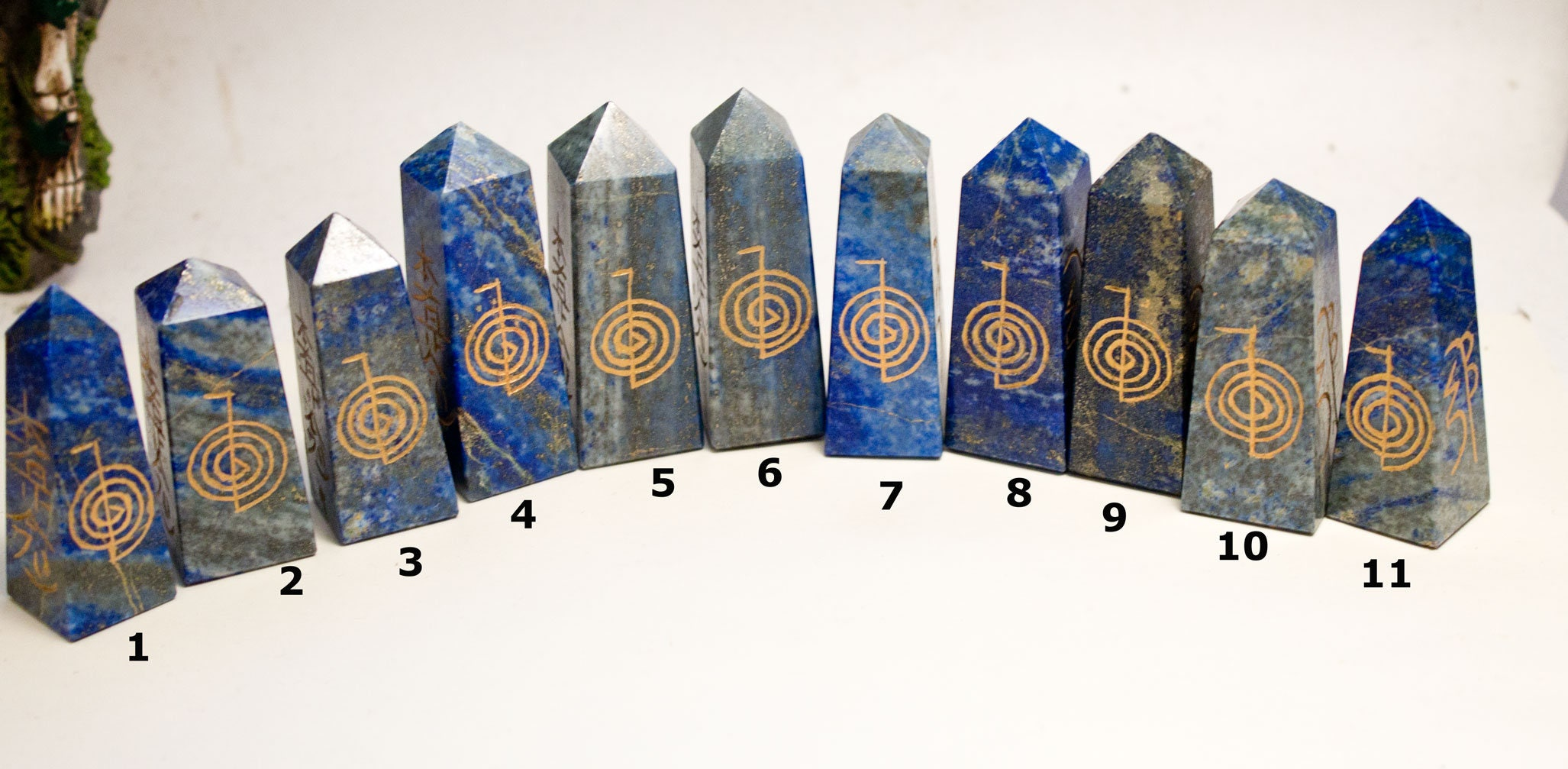 Reiki symbols lapis lazuli crystal healing tower with 4 reiki description reiki symbols crystal healing biocorpaavc