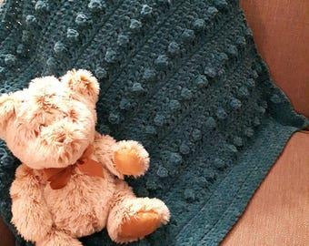 Green Bubble Crochet Baby Blanket