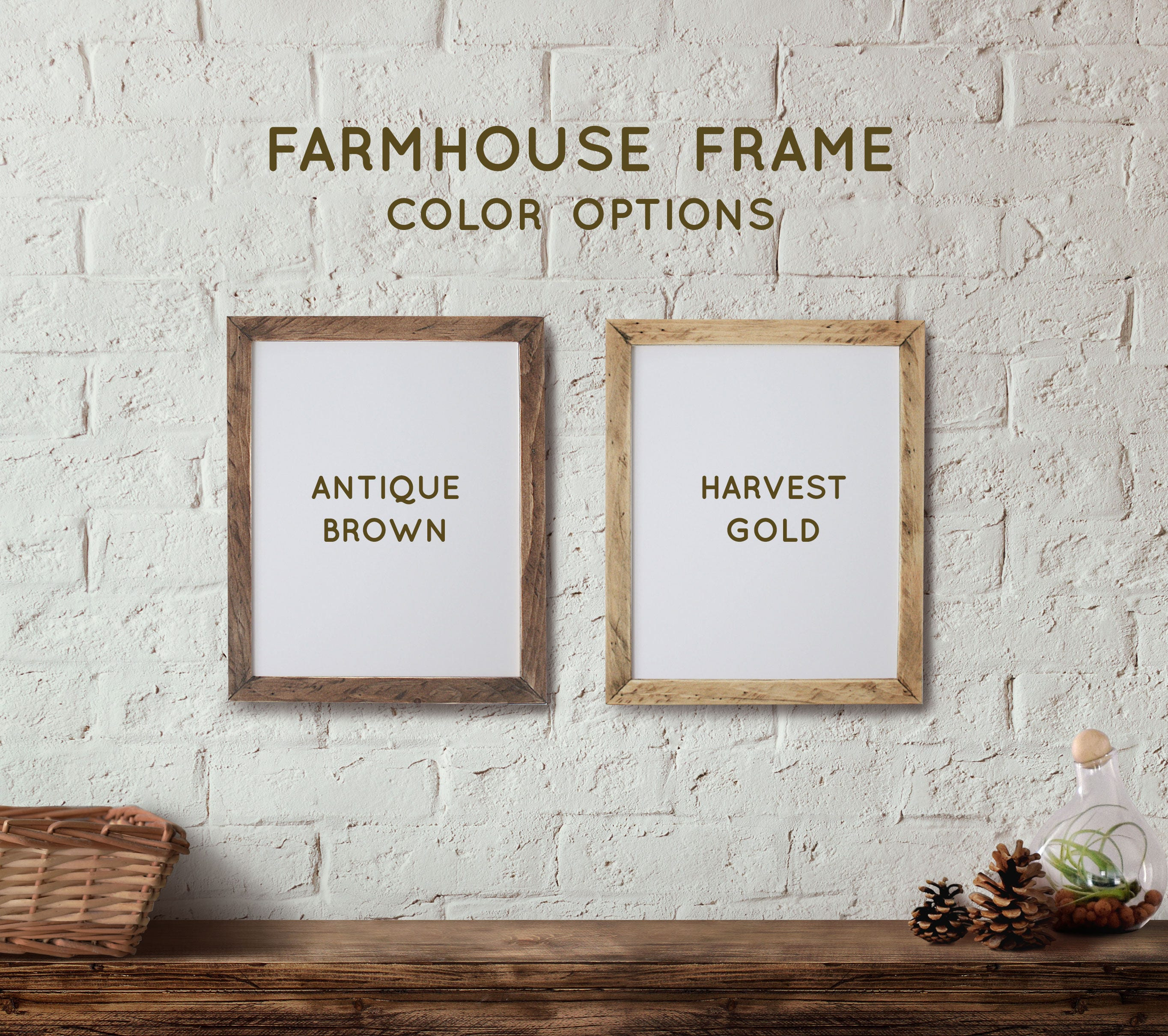 Farmhouse 6x18 picture frame Panoramic Picture Frame Rustic ...