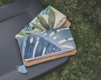 Tropical (Reversible) Foldover Clutch