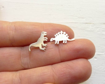 Dinosaur Earrings Mismatched Studs Posts with Animals Earings Dinosaur Gifts