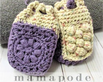 CROCHET PATTERN for Pampering Cotton Soap Bag - Soap Saver, Bath Shower Loofah Alternative, Great for a DIY Spa Gift Basket