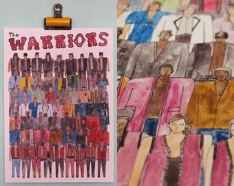 The Warriors Team Illustration