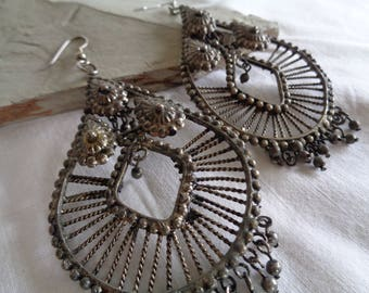 Boho Chic Wire/Metal Indian-Inspired Dangle Earrings