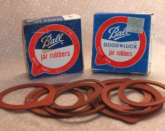 BALL JAR RUBBERS - 1975 Vintage Pair of Full Boxes plus extras - 4th Pair