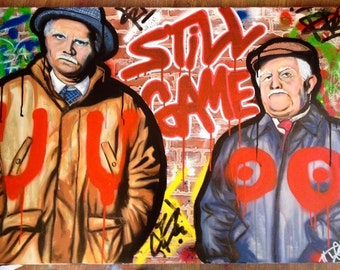 Still Game, Jack and Victor Graffiti Print