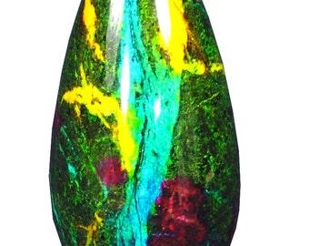 7 Color Serpentine Jade Vase  Urn Sculpture 3627K abe