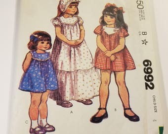 Vintage lot of childrens patterns McCalls 6992 and Simplicity 6418