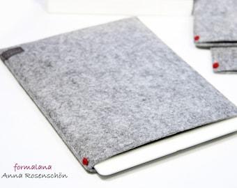 iPad case felt gray tablet cover sleeve pouch bag for Kindle E-Reader felt red dot Design