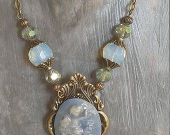 Gray-Blue Angel necklace
