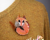 Fox Brooch, Cute Fox Jewe...