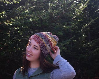 The Demelza Slouch // Crochet Slouchy Beanie Hat Womens Accessories