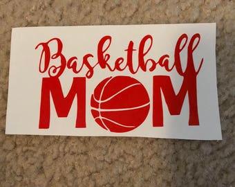 Basketball mom decal