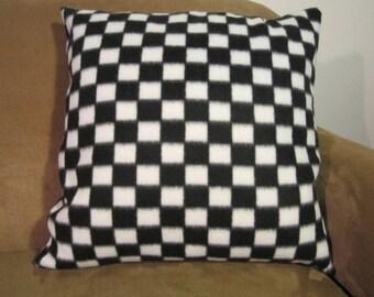Decorative Throw Pillow 18 x 18 Checkered Print Envelope Style