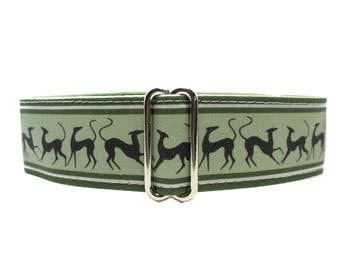Green Martingale Collar, Martingale Collar Greyhound, Galgo Collar, Saluki Collar, Green Martingale Collar for Boys, Levrier