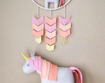 Unicorn Whimsy Hoop: 8 inch Chevron Mobile