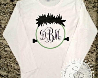 Halloween shirt, Frankenstein Monogram