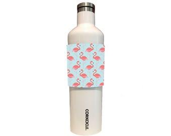 Custom Tumbler, Stemless Wine Wraps Flamingos For Corkcicle, Yeti, RTIC, Swig, CamelBak & Hydroflask