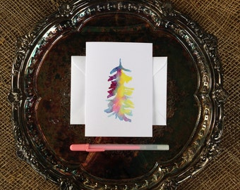 Tree Card, Watercolor Card, Blank Inside Art Card, Any Occasion
