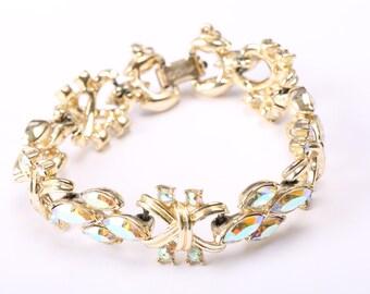 Coro Aurora Borealis Bracelet, 1950s
