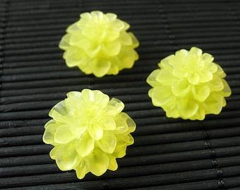 Yellow Mum Flower Refrigerator Magnets. Set of Three. Yellow Flower Magnets. Fridge Magnets. Office Magnets. Handmade Home Decor.
