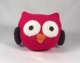 Crocheted Owl Plush