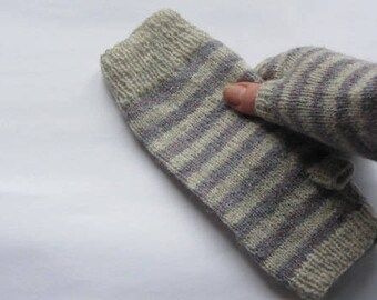 Fingerless Mitts - the Striped Collection