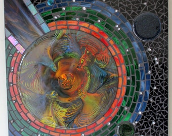 Mosaic Art, Stained Glass, Fused Glass, Cosmos, Outer Space, Planet, Stars