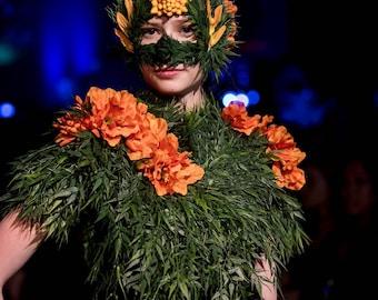 Masquerade Mask, Garden Mask, Nymph, Tree Spirit - Caipora
