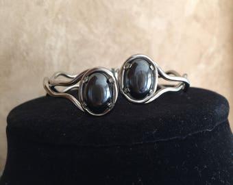 Hematite Cuff Hinged Bracelet